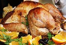 Рецепты из птицы - индюшка с яблоками
