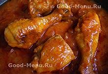 Рецепт курицы в томате