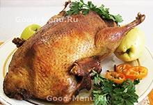 Рецепты из птицы - утка в рукаве