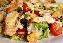 Курица - рецепт салата цезарь