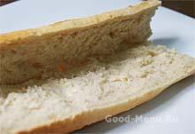 Хлеб багет для бутербродов в дорогу
