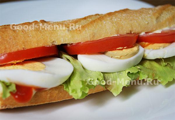Бутерброды в дорогу с яйцом