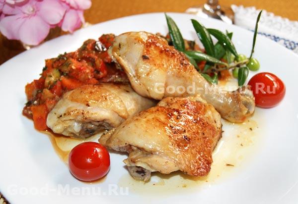 Жареная курица кусками рецепт