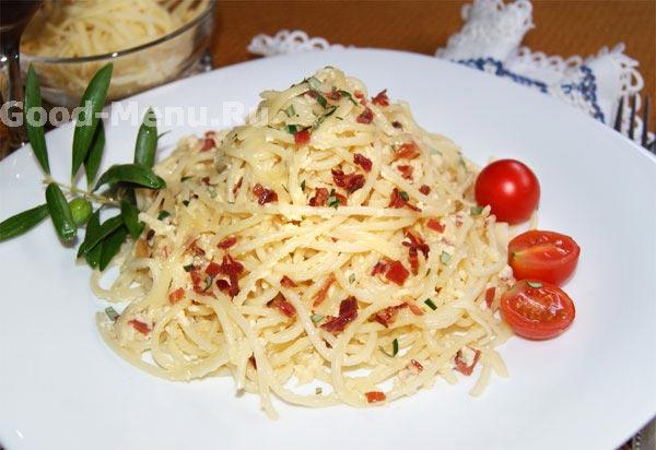 Спагетти с мясом - рецепт с фото