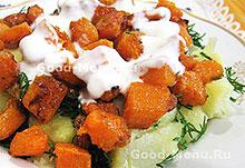 Овощные блюда - тыква с картошкой