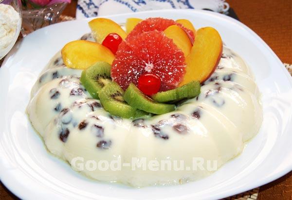 Творожный фруктовый торт рецепт