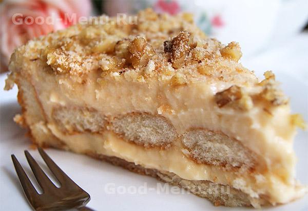 торт с печеньем рецепт