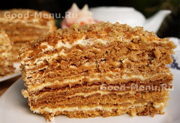 как приготовить торт медовик без паровой бани