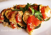 Кабачки в духовке с помидорами и сыром