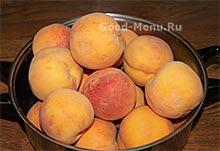 Персики для варенья дольками