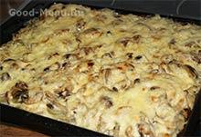 Запеченная в духовке картошка с грибами